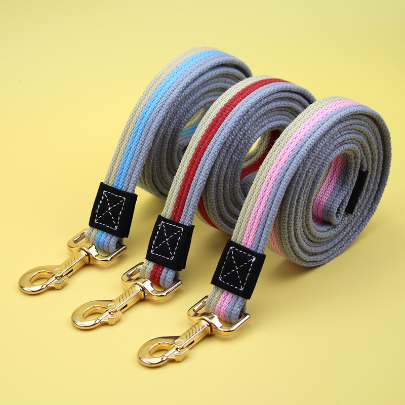 PET Canvas Hand Holding Rope Dog Training Lanyard Lengthen Reinforced Golden Retriever Labrador Universal Medium-sized Dog Tract