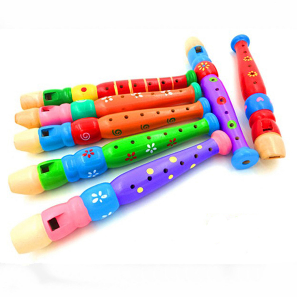Colorful Children Learning Well Designed Wooden Plastic Kids Piccolo Musical Instrument Education Toy Random