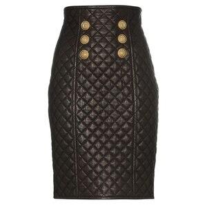 Image 1 - Высококачественная Дизайнерская Женская юбка из синтетической кожи 2020