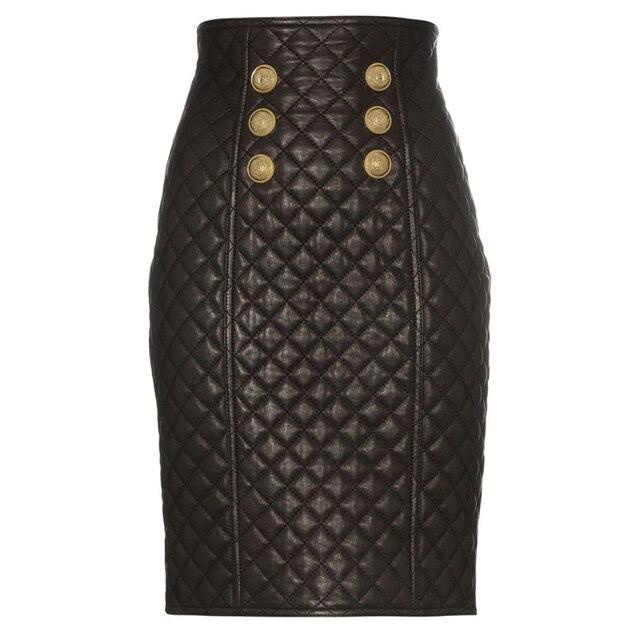 Высококачественная Дизайнерская Женская юбка из синтетической кожи 2020