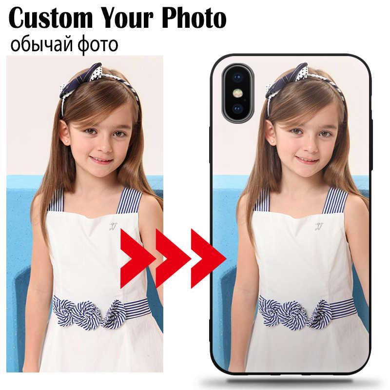 IPhone11 ためプロ 6 6S 7 8 プラス X XS 最大 XR プライベート排他的なカスタムパーソナライズされた携帯電話ケースデザイン画像名写真