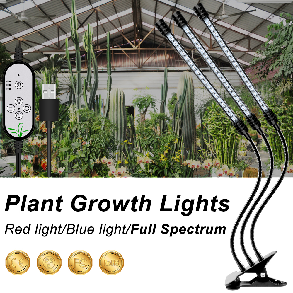 USB LED Plant Indoor Lights LED Grow Light Full Spectrum LED Fitolampy For Hydroponic Grow Tent Plant Lighting IR UV Grow Tent
