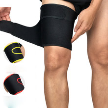 1pcs Bandage Thigh Protection Adjustment Legwarmers Elastic Outdoor Sports Safety Leg Support Brace Gym Running Basketball(China)