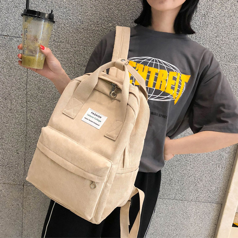 Large Capacity Women Backpack New Fashion Anti-theft Ladies Backpacks Small Label Velvet Portable School Bag Outdoor Travel Bags