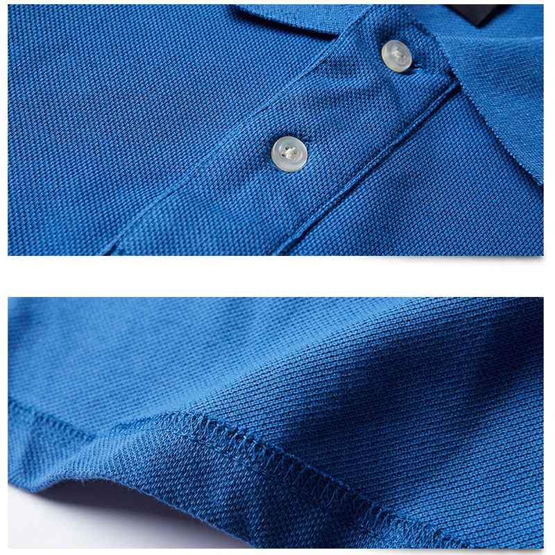 Image 5 - 2019 Autumn Men Polo Shirt Cotton Men Business Fashion Homme Polo Shirts Long Sleeve Comfortable Polo Shirt 5XL Brand Clothing-in Polo from Men's Clothing