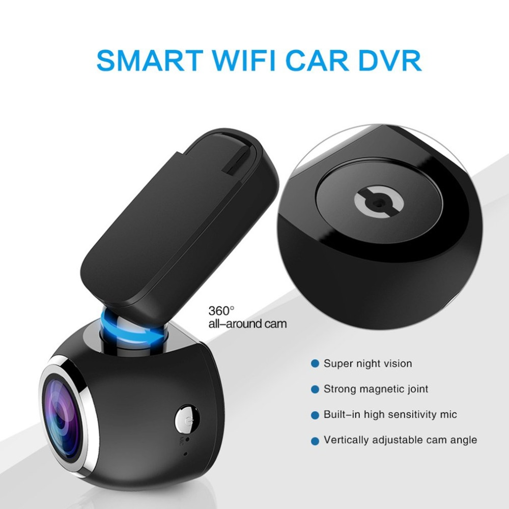 1.54'' 1080P LCD Screen Mini Smart WiFi Car Dash Cam Full HD Video Recorder GPS Logger Night Vision Car DVR|DVR/Dash Camera| |  - title=