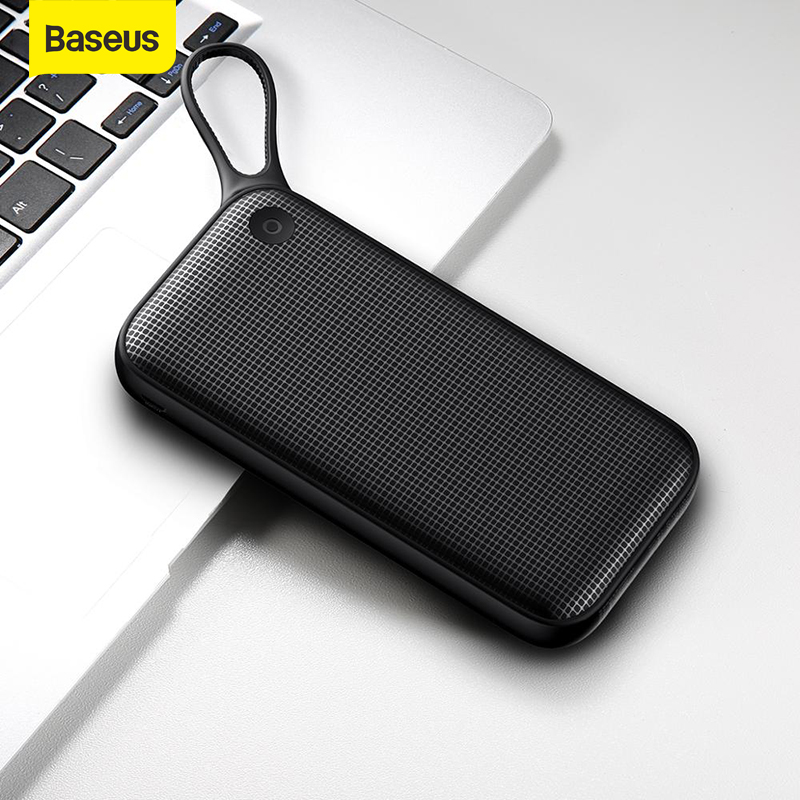 Baseus 20000mAh Power Bank Double Quick Charge 3.0 USB 18W PD Fast Charging PowerBank 20000mAh External Battery For IP For Xiaom