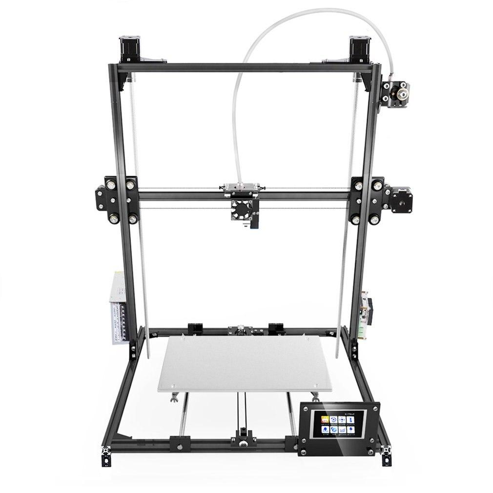 C-Plus автоматический уровень 3d принтер комплект большой области печати 300*300*420 мм двойной экструдер сенсорный экран DIY печатная машина
