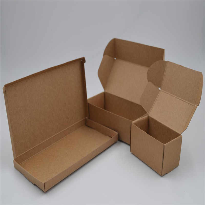 5pcs Lot 42 Sizes Natural Brown Paper Gift Box For Packaging Diy Handmade Soap Jewelry Box Small Kraft Paper Craft Box Aliexpress