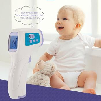 1Piece Temperature Measurement CK-T1501 Standing Thermometer Home Contact Type Temperature Tool Forehead Infrared Thermometer