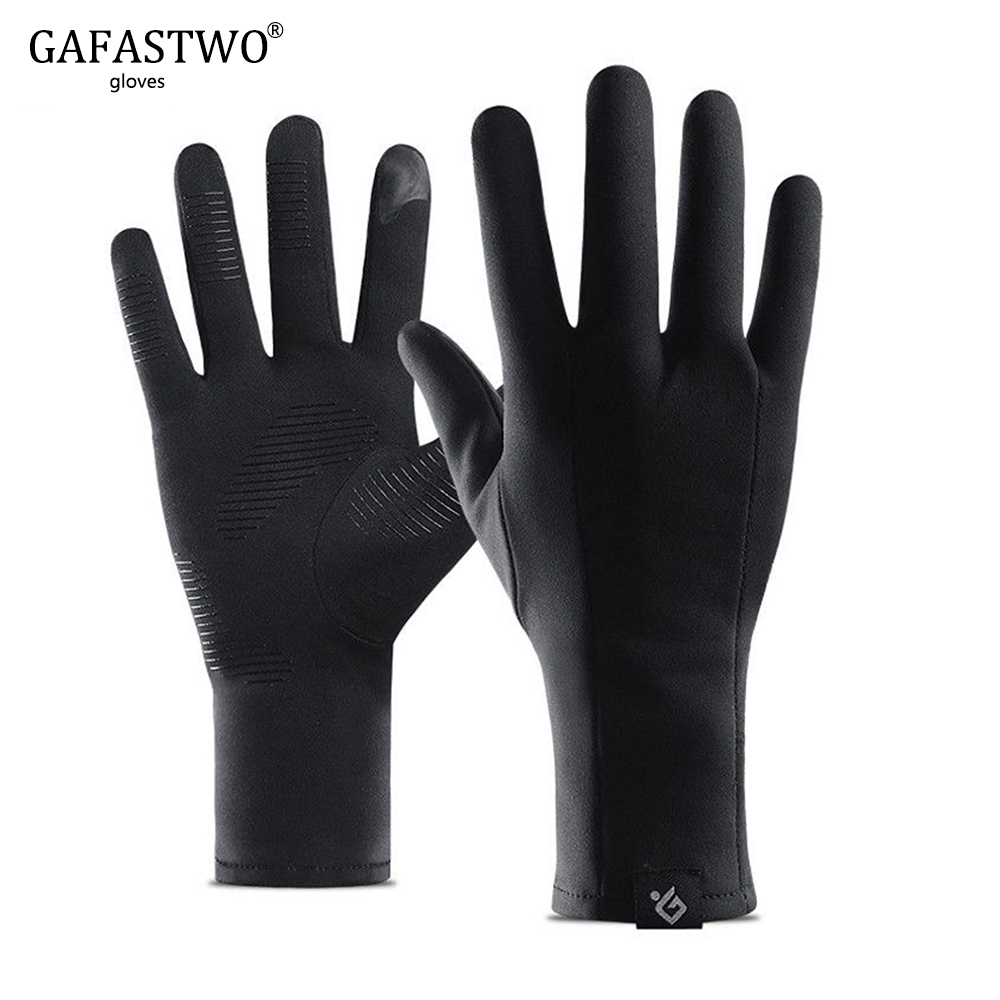2020 New Winter Thin Section Lightweight Touch Screen Man Gloves Ladies Running Plus Velvet Anti-Skid Windproof Riding Gloves