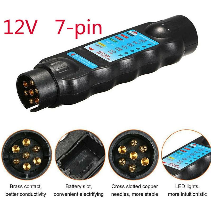 12v 7 Pin Car & Trailer Towing Lights Plug & Socket Cable Wiring Circuit Tester