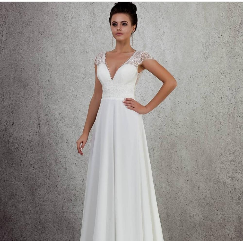 2020 Wedding Dress Boho Rustic Simple Vintage Wedding Dress Floor