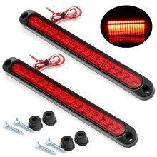2PCS luce freno rimorchio 15 LED luce posteriore rimorchio camion LED fanale posteriore 10-30V luci di segnalazione di arresto rimorchio barra freno posteriore