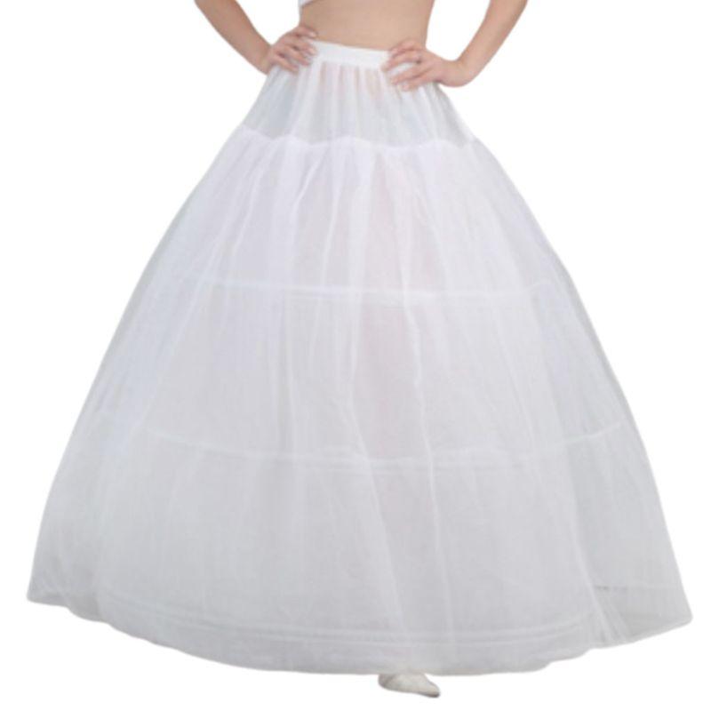 Free Shipping Bride Bridal Wedding Dress Support Petticoat 3 Hoops 1-layer Yarn Skirt Women Costume Skirts Lining Liner