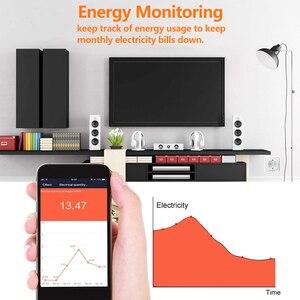 Image 5 - חכם WiFi תקע 16A מרחוק קול בקרת כוח צג שקע לשקע עיתוי פונקצית עבודה עם Alexa Google בית Tuya