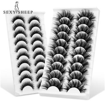 SEXYSHEEP 5/10 pair 3D Faux Mink Lashes Natural length Ru False Eyelashes Volume Fake Lashes Makeup Extension Eyelashes 1