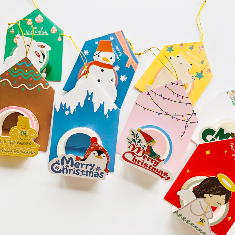1.5CM*5M Christmas Angel Pendant Washi Masking Tape Christmas Tree Decor