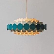 מודרני עגול כחול עלה כותרת נברשת תאורת סלון חדר שינה Led נורדי נברשות מקורה אור גופי Lustres דה Cristal