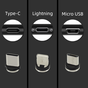 Image 5 - CHAURE Magnetic charging USB Cable Type C Flow Luminous Data Wire Micro USB for iphoneX voice control LED USB Cable
