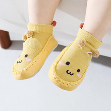 Lawadka Newborn Baby Socks With Rubber Soles Infant Baby Girls Boys Shoes Spring Autumn Baby Floor Anti Slip Soft Sole Sock 2021