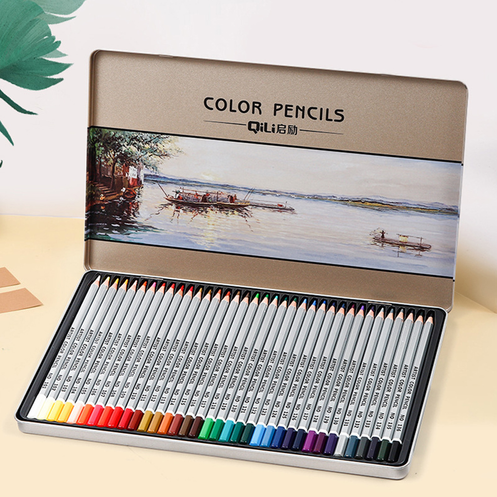 36/48 Colors Professional Art Drawing Pencils Painting Colored Pencil Set Hand-Painted Sketch Pen School Office Supplies