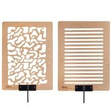 Placa de efeito de sombra e luz placa de madeira de pinho 45x6 0/60x90cm árvore sombra janela vista esculpida para fundo de fotografia
