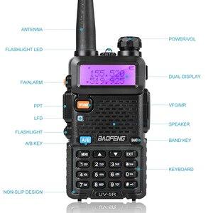 Image 4 - BaoFeng UV 5R iki yönlü radyo gerçek 8W 10KM 128CH çift bant VHF(136 174MHz)UHF(400 520MHz) amatör amatör el telsizi
