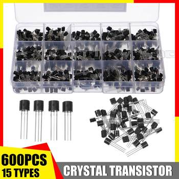 600Pcs 15 Types Silicon In-line NPN / PNP TO-92 Transistor Assortment Kit Pack Electronic Components & Supplies Active Component - discount item  30% OFF Active Components