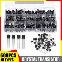600Pcs 15 Types Silicon In-line NPN / PNP TO-92 Transistor A