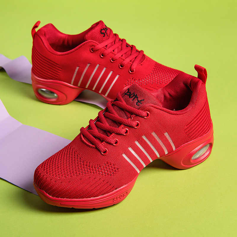 Sepatu untuk Square Dance Sailor Jazz Hantu Langkah Tari Sepatu Wanita Dewasa Menari Wanita Sepatu Bernapas Lembut Bawah Baru gaya Su