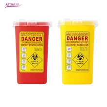 ATOMUS 1pc Tattoo Sharps Container Danger Biohazard Gathering Barrel Supplies Garbage Mini Trash Can For Needles Tools