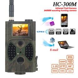 HC300m avcılık takip kamerası MMS 12MP 1080P gece görüş kızılötesi yaban hayatı Hunter kamera fotoğraf tuzakları su geçirmez vahşi gözetim