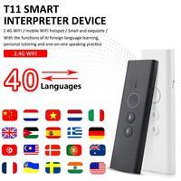 Tradutor inteligente portátil 40 línguas língua estrangeira máquina de aprendizagem com 2.4g wifi para o intérprete do negócio do curso