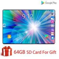 Новейший ультра тонкий Android 9,0 Смарт 10 дюймов планшет HD ips большой экран 4G LTE сеть две sim-карты и камера мобильный вызов вкладка