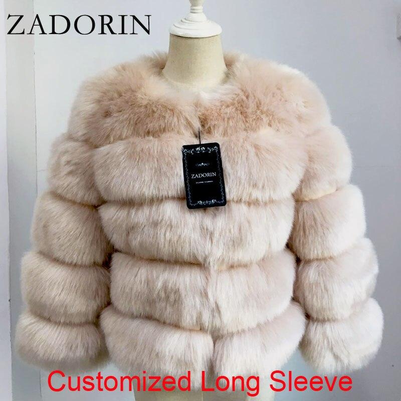 ZADORIN Long Sleeve Faux Fox Fur Coat Women Winter Fashion Thick Warm Fur Coats Outerwear Fake Fur Jacket Plus Size|Faux Fur| - AliExpress