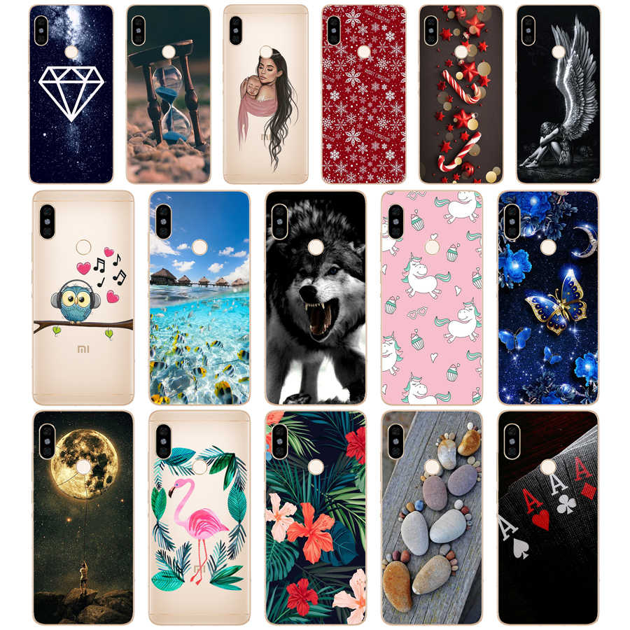 Silicone Case untuk 5.99 Inci Xiaomi Redmi Note 5 Global Pro Case Cover Redmi Note 5 Snapdragon 636 Versi Note5 Pro Case