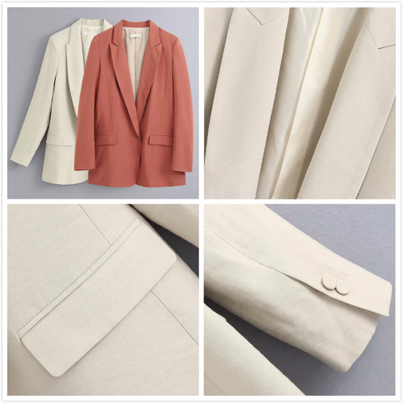 2020 Spring Autumn Office Lady Two Pieces Sets Women's Elegant Blazer Jacket Tops And Elastic Pants Suit Casual Trousers Female