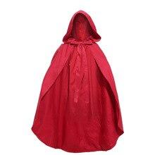 Umorden yetişkin çocuk çocuk küçük kırmızı başlıklı kız kostüm Cosplay pelerin pelerin kadınlar kızlar için
