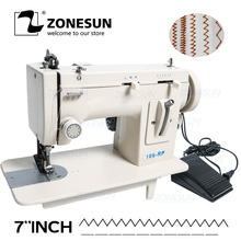 Fell Sewing-Machine Thicken Household ZONESUN 106-RP Fabric-Material Zag-Stitch-D Fur