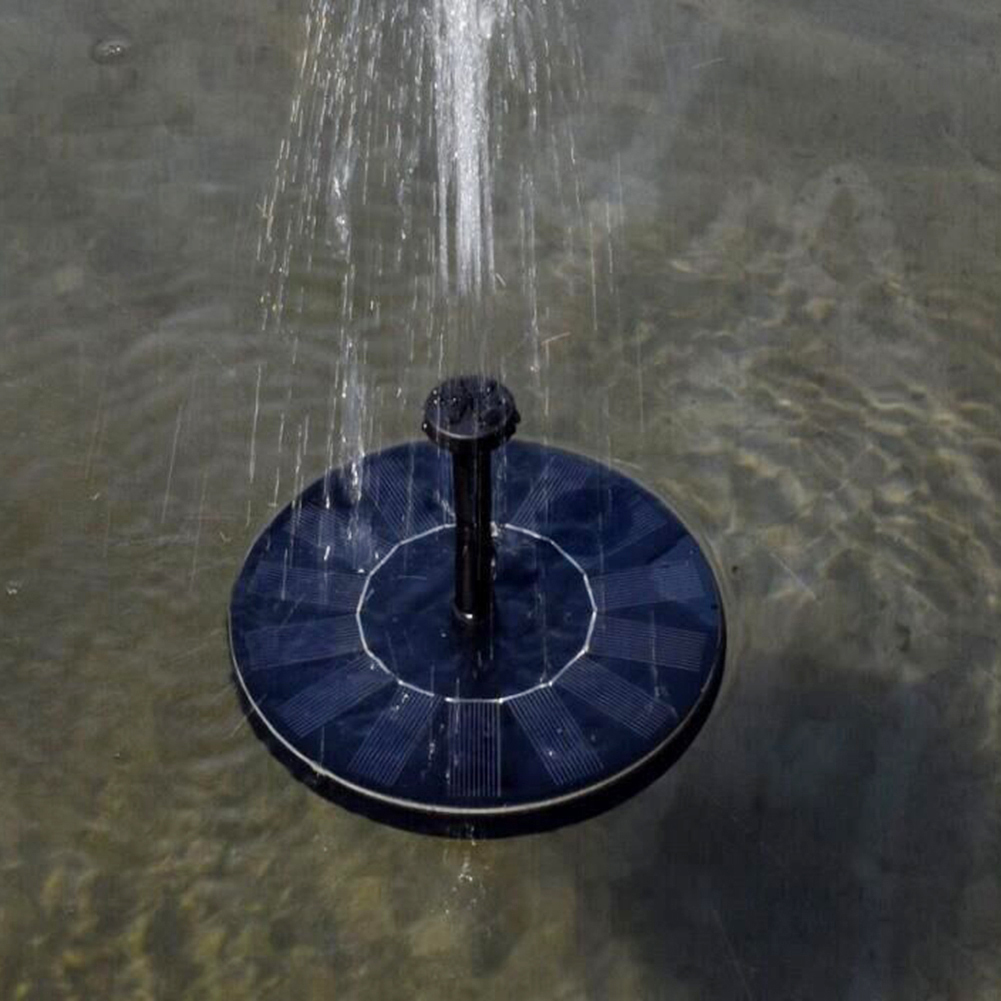 6V 1W Round Solar Fountain Floating Water Fountain Fontaine For Garden Decoration Garden Plant Watering Kit Pool Pond Waterfall