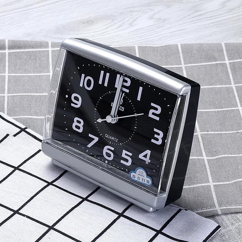 Модные настольные часы с функцией пробуждения для спальни школьников