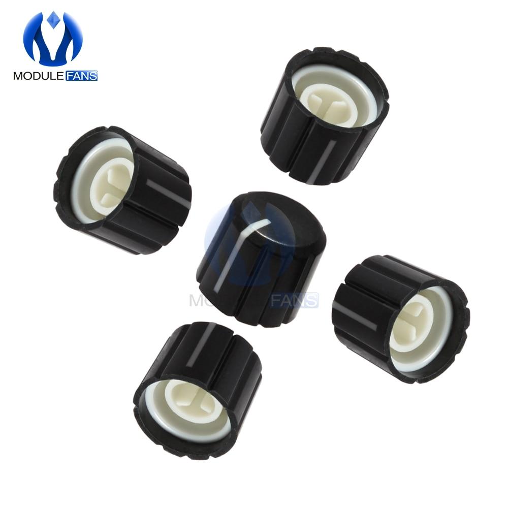 5PCS Para KY-040 360 Graus Rotary Encoder ABS Metade Buraco Eixo Caps Botão Tijolo Sensor Interruptor Potenciômetro