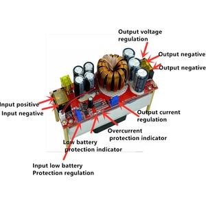 Image 4 - 1800W 40A DC DC DC מתח קבוע זרם קבוע Boost ממיר מגביר 10 60V על ידי מאוורר עבור 12 90V Boost כוח מודול