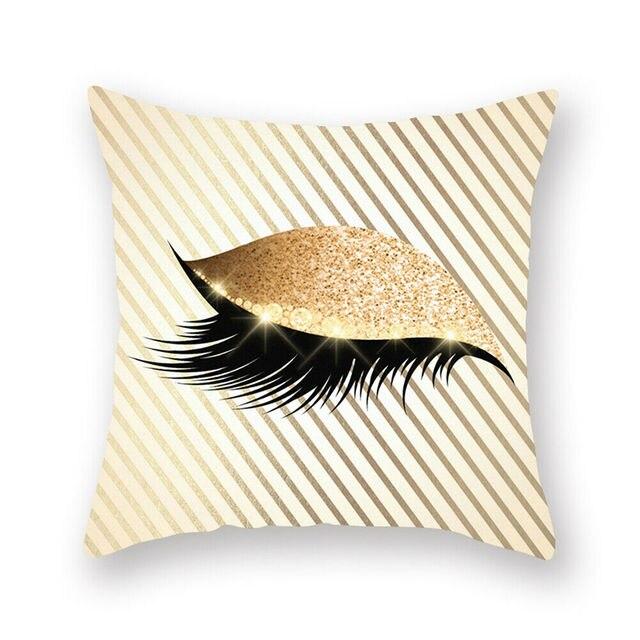 18/'/' Glitter Eyelash Lash Pillow Case Car Sofa Throw Cushion Cover Home Decor