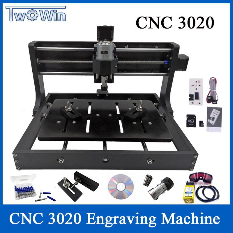 15W amélioré bricolage CNC 3020 Machine de gravure bois routeur Cutter Laser graveur utilisation avec contrôle GRBL et contrôle hors ligne