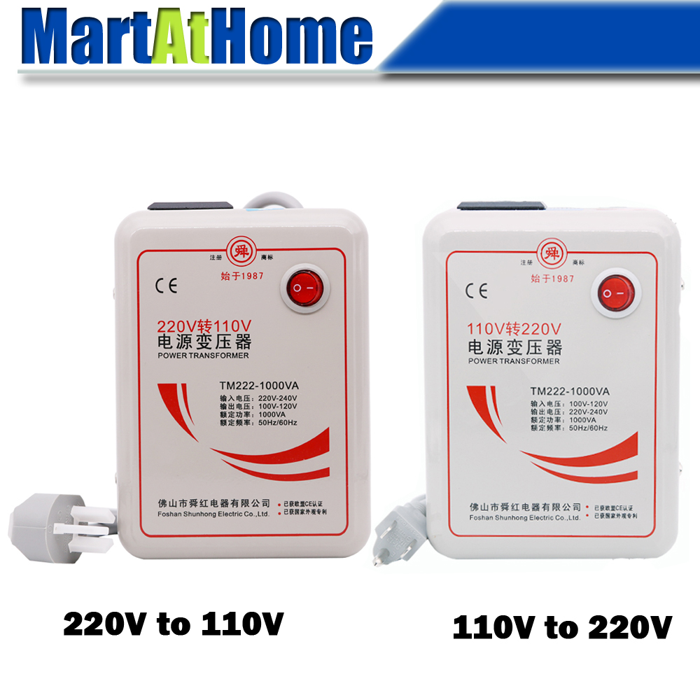 Transformateur de convertisseur de tension 1000 W 220 V à 110 V abaisseur/110 V à 220 V 1000 W augmentation
