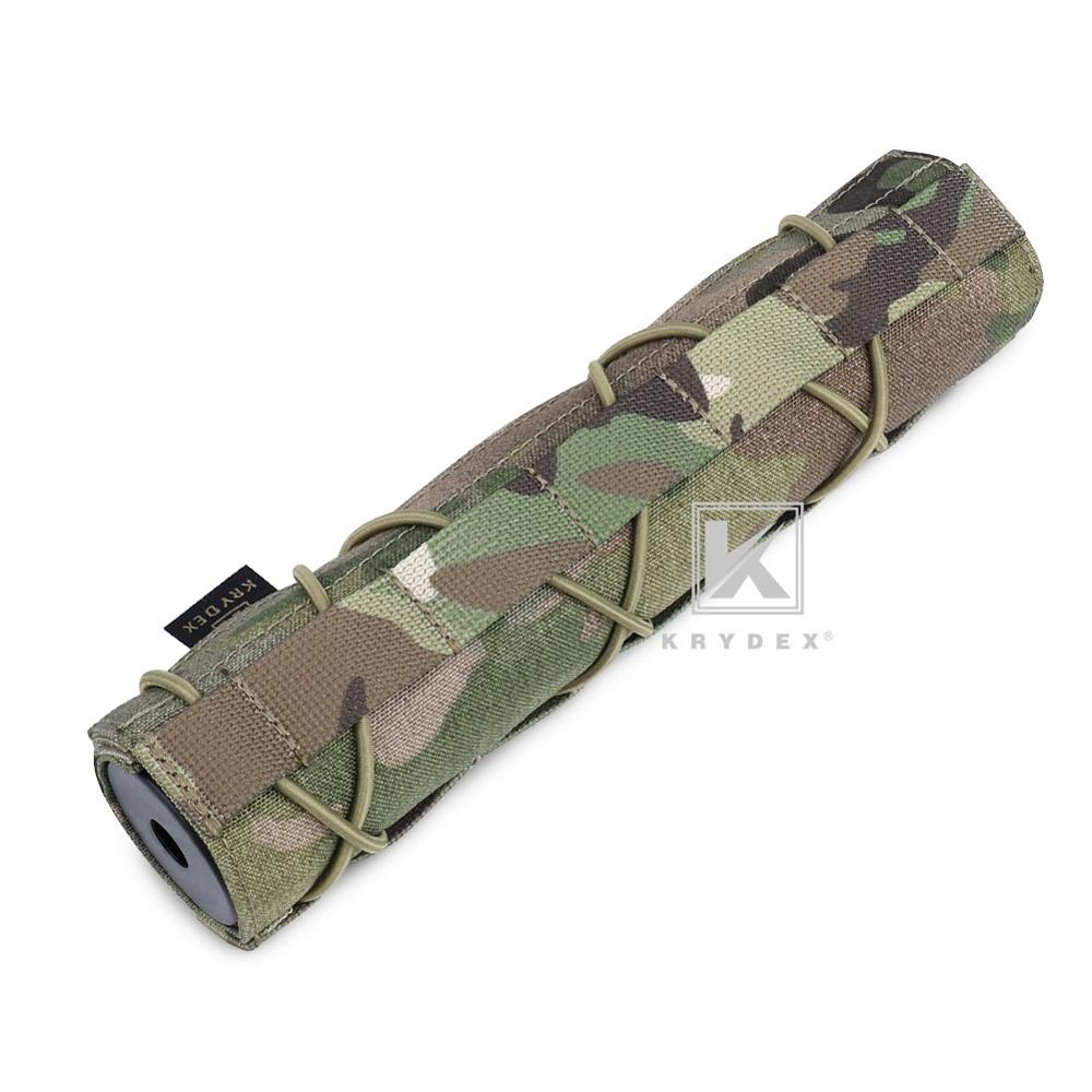 KRYDEX 22CM Tactical Muffler Protective Case Shooting Suppressor Nylon Silencer Protector Cover For Surefire FA762K Accessory