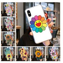 Murakami Takashi Sun flower Custom Photo Soft Phone Case for iPhone 11 pro XS MAX 8 7 6 6S Plus X 5 5S SE XR cover(China)