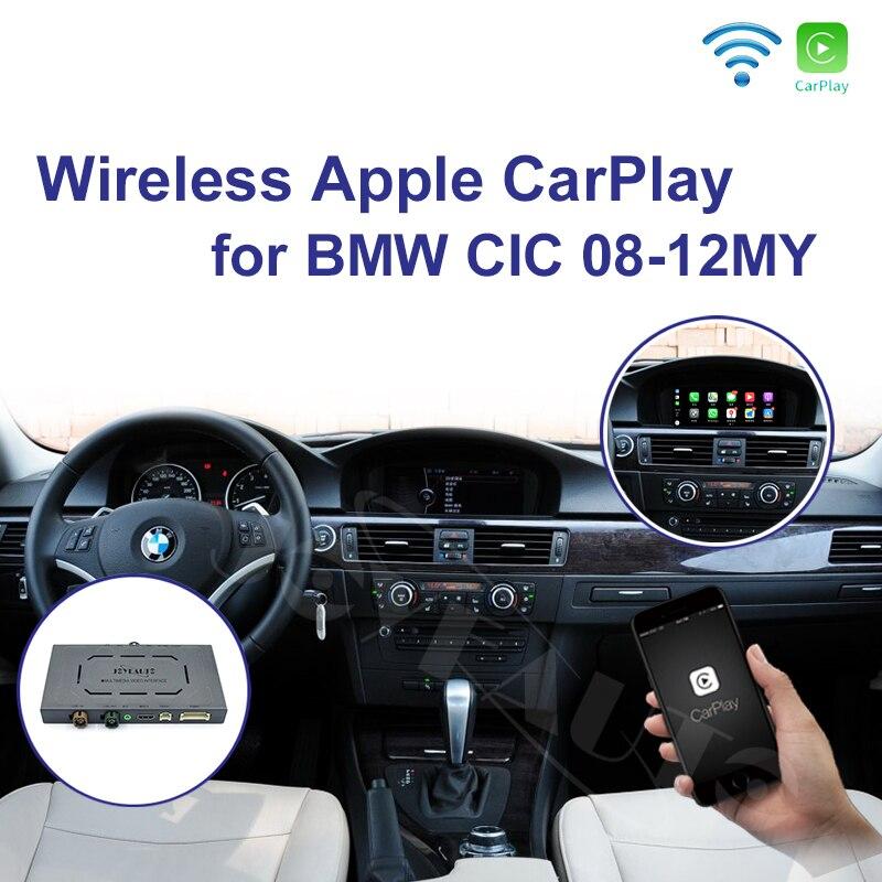 Joyeauto WIFI Senza Fili di Apple Carplay per BMW CIC 6.5 8.8 10.25 pollici 1 3 5 6 7 serie X1 X3 x5 X6 2009-2013 Android Auto Gioco Auto